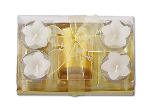 LILIAN - vánoční sada 1 ks svícnu + 4 ks svíček