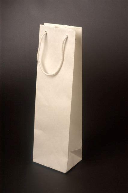 Papírové tašky s lesklým laminem o rozměru 120 x 90 x 400 mm, bílé