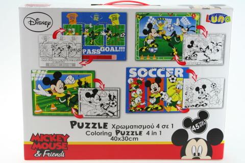 Puzzle Mickey 45 dílků 4 v 1