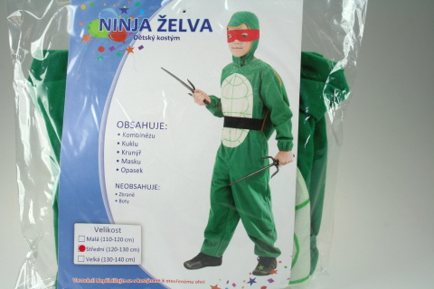 Šaty Ninja Želva 120-130cm
