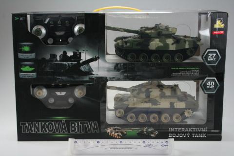 Tank 2ks na dálkové ovládání RC s pojízdnými pásy