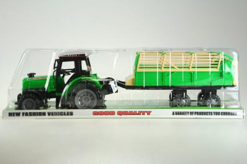 Traktor s vlečkou na setrvačník
