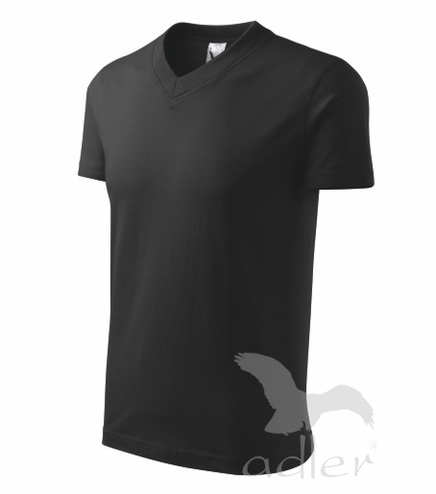 Tričko V-neck 160 černé XXXL