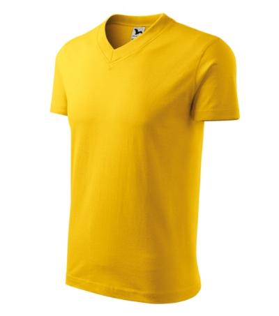 Tričko V-neck 160 žluté XXXL
