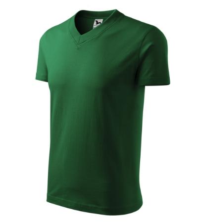 Tričko V-neck 160 lahvově zelené XXXL