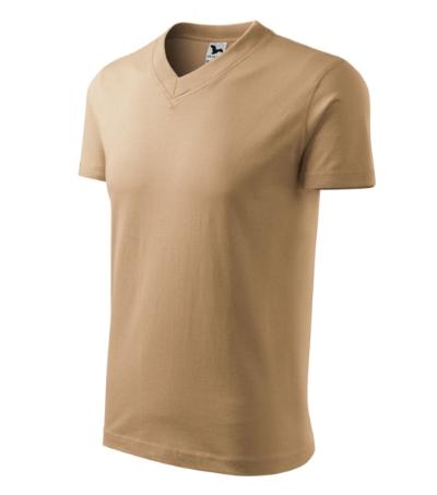 Tričko V-neck 160 pískové XXXL