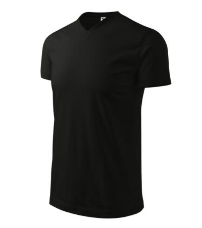 Tričko Heavy V-neck 200 černé XXL
