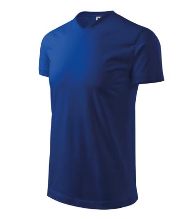 Heavy V-neck tričko unisex královská modrá 3XL