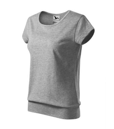 City tričko dámské tmavě šedý melír 2XL