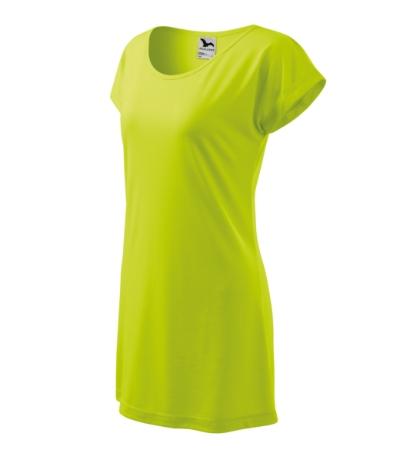 Love tričko/šaty dámské limetková 2XL