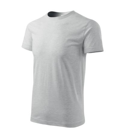 Tričko Basic světle šedý melír XXXXL