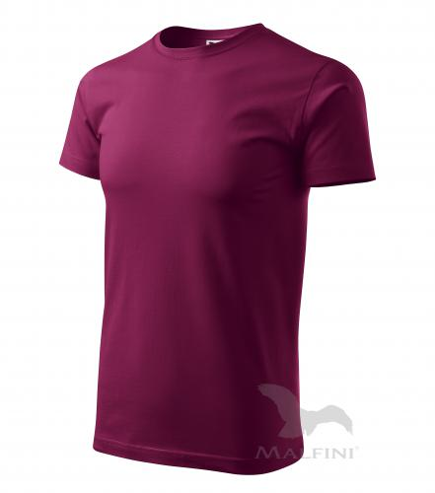 Basic tričko pánské fuchsiová 4XL
