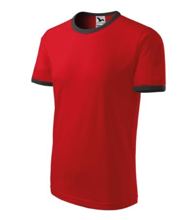 Tričko unisex Infinity červená/tmavá břidlice XXXL