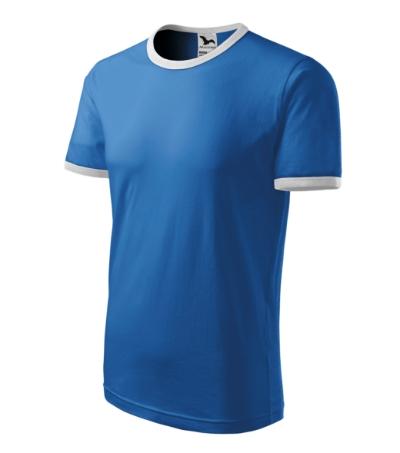 Tričko unisex Infinity azurově modrá/bílá