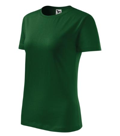 Tričko dámské Classic New lahvově zelená 2XL