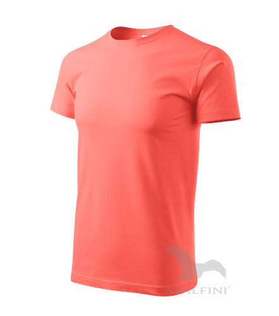 Heavy New tričko unisex korálová 3XL