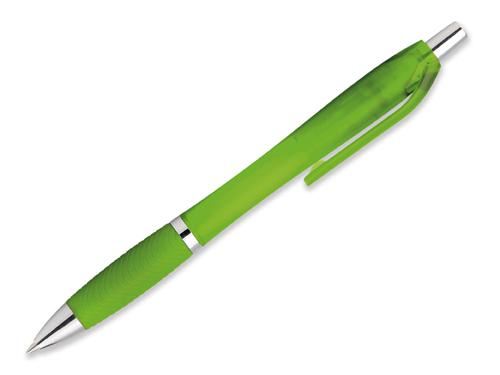 DARBY FROSTY - plastové kuličkové pero, modrá náplň