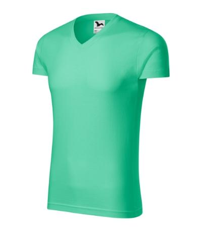 Slim Fit V-neck tričko pánské mátová 3XL