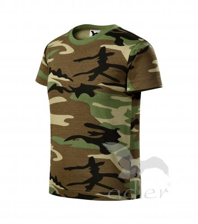 Camouflage tričko dětské camouflage brown 146 cm/1