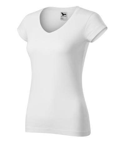 Fit V-neck tričko dámské bílá 2XL