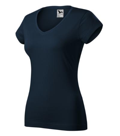 Fit V-neck tričko dámské námořní modrá 2XL