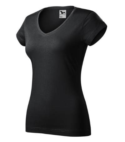 Fit V-neck tričko dámské ebony gray 2XL