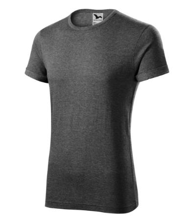Fusion tričko pánské černý melír 3XL