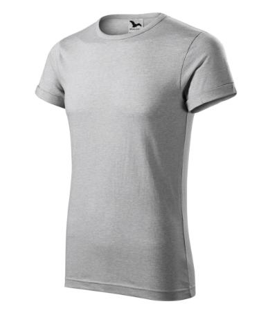 Fusion tričko pánské stříbrný melír 3XL