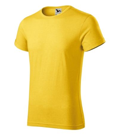 Fusion tričko pánské žlutý melír 3XL