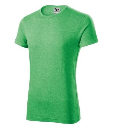 Fusion tričko pánské zelený melír 3XL