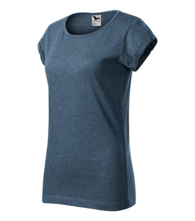Fusion tričko dámské tmavý denim melír 2XL