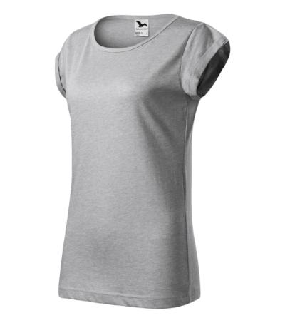 Fusion tričko dámské stříbrný melír 2XL