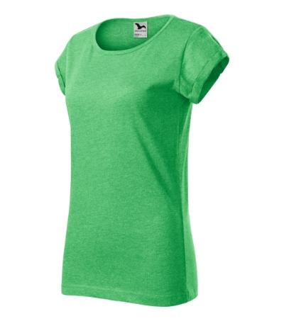 Fusion tričko dámské zelený melír 2XL