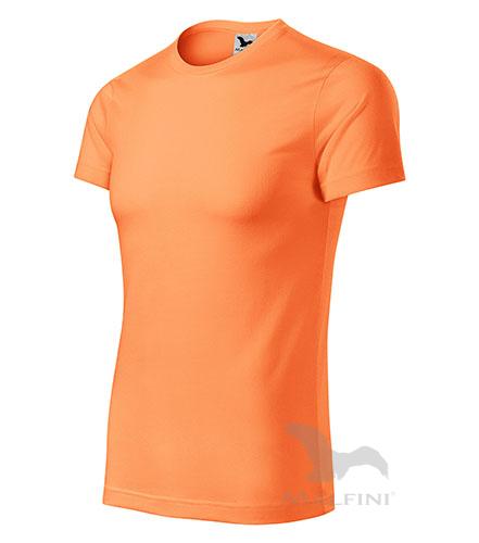 Star tričko unisex neon mandarine 3XL