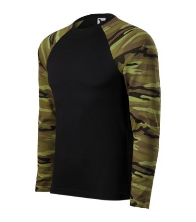 Camouflage LS triko unisex camouflage green 3XL