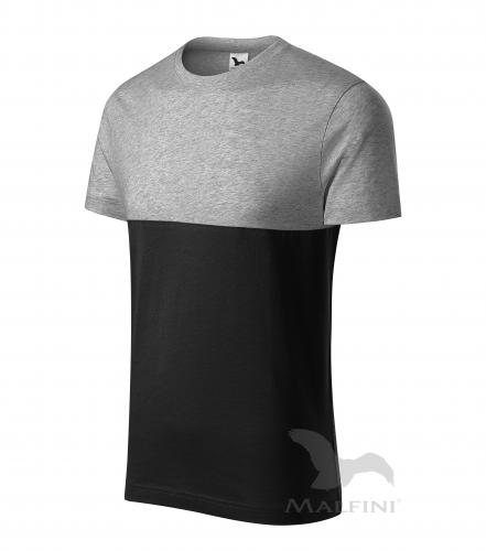 Connection tričko unisex tmavě šedý melír 3XL