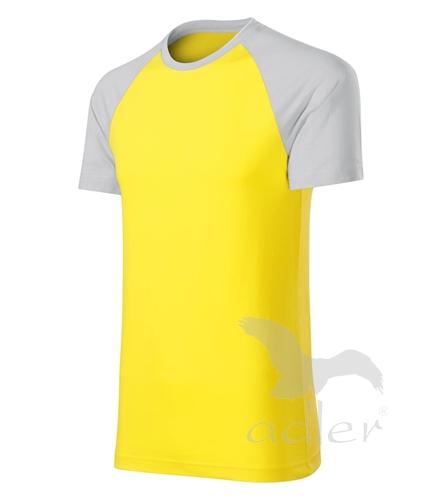 Duo tričko unisex žlutá XXXL