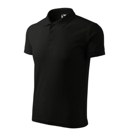 Pique Polo polokošile pánská černá 5XL