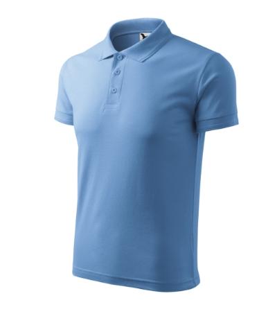 Polokošile pánská Pique Polo nebesky modrá XXXXL