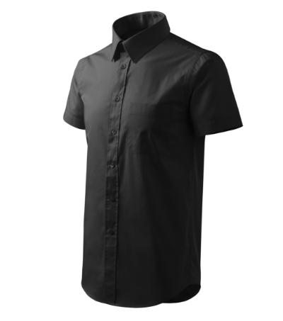 Shirt short sleeve košile pánská černá 3XL