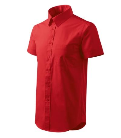 Shirt short sleeve košile pánská červená 3XL