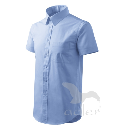 Shirt short sleeve košile pánská nebesky modrá 3XL