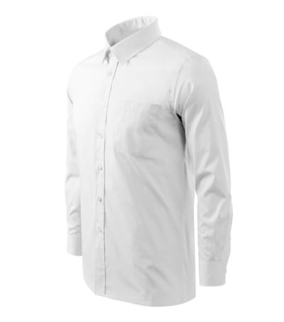 Košile pánská Shirt long sleeve bílá XXXL