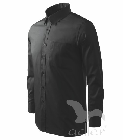 Košile pánská Shirt long sleeve černá XXXL