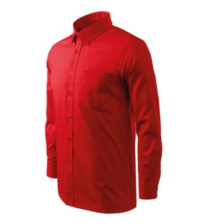 Košile pánská Shirt long sleeve červená XXXL