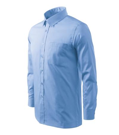 Košile pánská Shirt long sleeve nebesky modrá 3XL