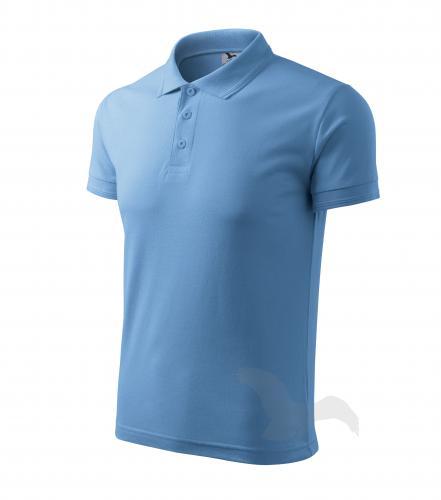 Pique Polo polokošile pánská nebesky modrá 4XL