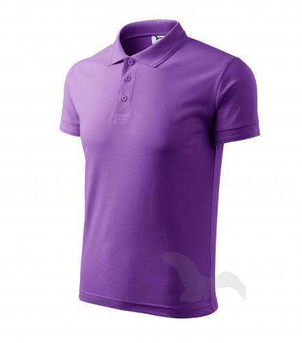 Pique Polo polokošile pánská fialová 2XL
