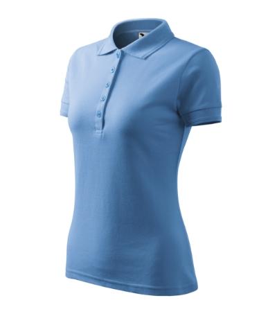 Polokošile dámská Pique Polo 200 nebesky modrá XXL