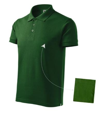 Cotton polokošile pánská lahvově zelená 3XL